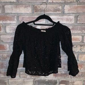 ZARA Lace off the shoulder top